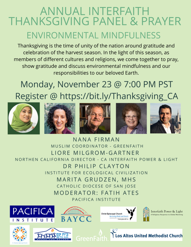 Annual Interfaith Thanksgiving Panel & Prayer